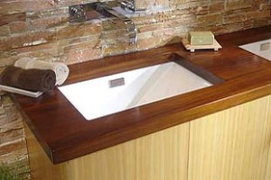 Waterproof wood countertops